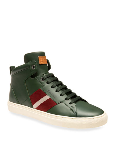 Men's Hedern Trainspotting Leather High-Top Sneakers