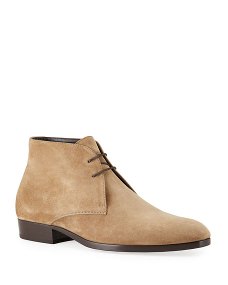 Saint Laurent Men's Wyatt Suede Chukka Boots