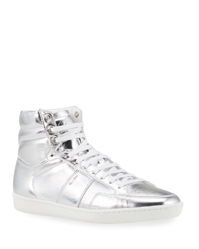 Men's Metallic Court Classic High-Top Sneakers