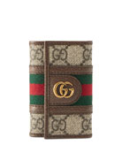 Gucci Men's GG Supreme Marmont Key Case