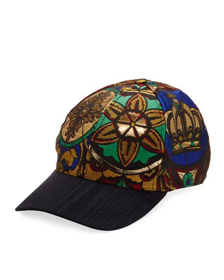 Dolce & Gabbana Men's Printed Jacquard Baseball Hat