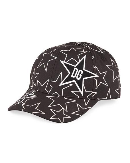 Dolce & Gabbana Men's Star DG Logo Baseball Hat
