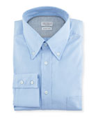 Brunello Cucinelli Men's Basic Fit Solid Oxford Sport