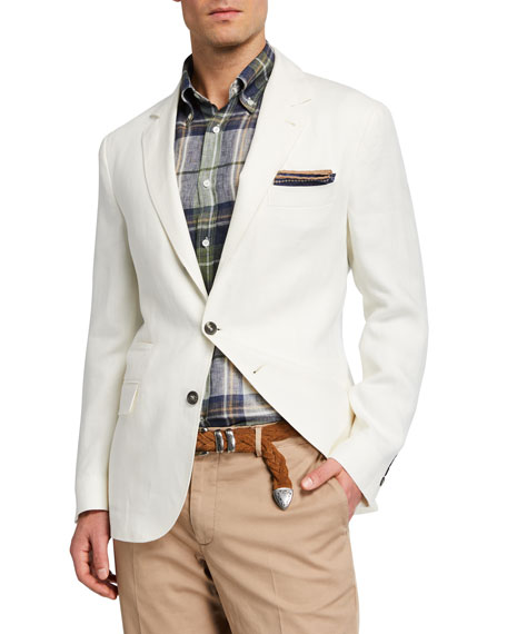 Brunello Cucinelli Men's Solid Linen Sport Jacket
