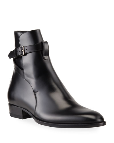 Men's Jodhpur Leather Ankle-Wrap Boots