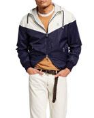 Brunello Cucinelli Men's Spa Zip-Front Hooded Jacket