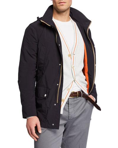 Men's Mid-Length Zip-Front Jacket