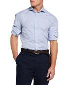 Brunello Cucinelli Men's Micro Plaid Sport Shirt
