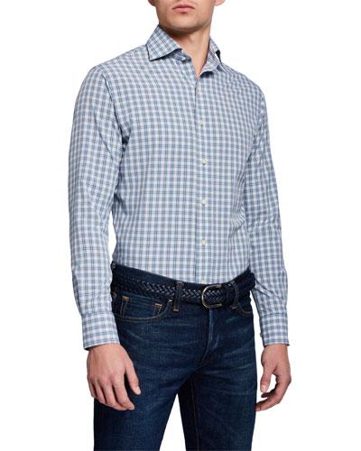 Men's Craft Woven Plaid Sport Shirt