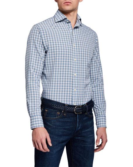 Peter Millar Men's Craft Woven Plaid Sport Shirt