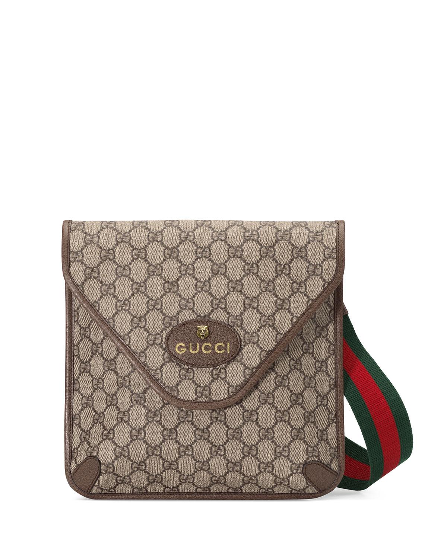 Gucci Crossbody MEN'S GG SUPREME CROSSBODY BAG