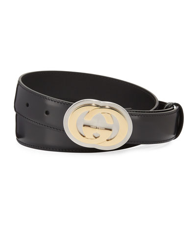 Men's Interlocking G Leather Belt