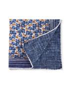 Edward Armah Men's Floral/Solid Pocket Square