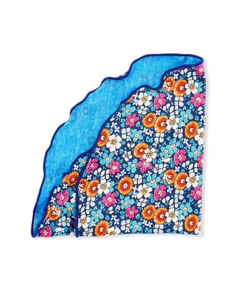 Edward Armah Men's Floral Silk Pocket Circle