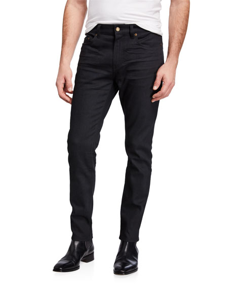 Saint Laurent Men's 5-Pocket Skinny Stretch Jeans