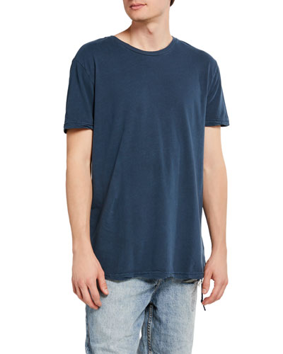 Men's Seeing Lines Solid Cotton T-Shirt
