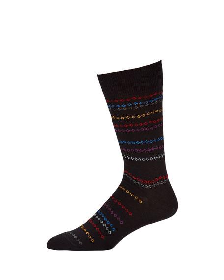 Paul Smith Men's Chain Stripe Socks