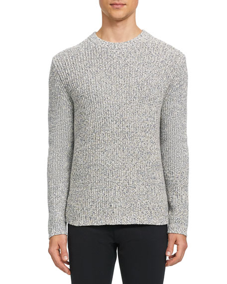 Theory Men's Cadiz Ribbed Speckled Sweater