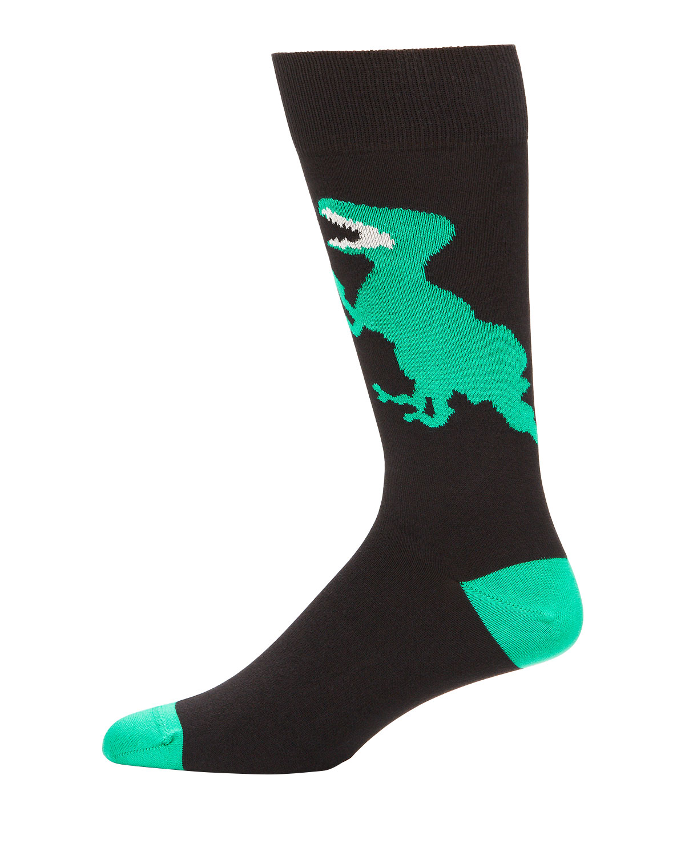 Men's Dino Graphic Knit Socks