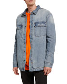 Ksubi Men's Anti-Shirt Skream Denim Shirt Jacket