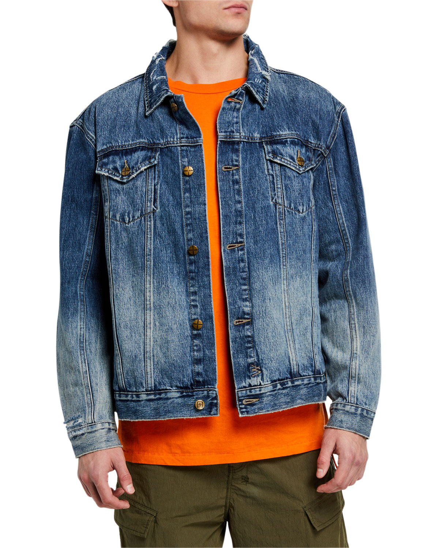 Ksubi Men's Oh G No Rules Fancy Dollar Denim Jacket In Blue