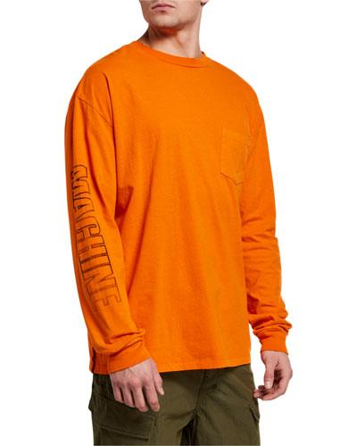 Men's Machine Graphic Long-Sleeve Pocket T-Shirt