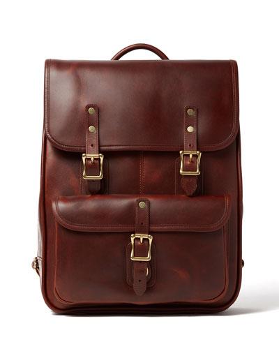 Men's Continental Full-Grain Leather Backpack