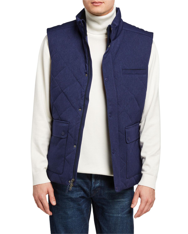 Men's Lexington Quilted Zip-Front Vest