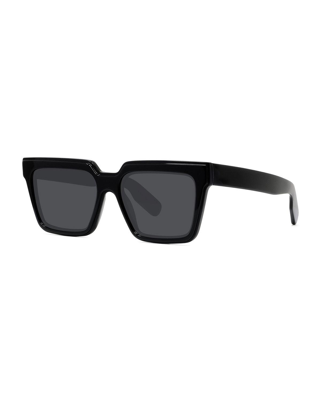Kenzo Sunglasses MEN'S SQUARE SOLID ACETATE SUNGLASSES