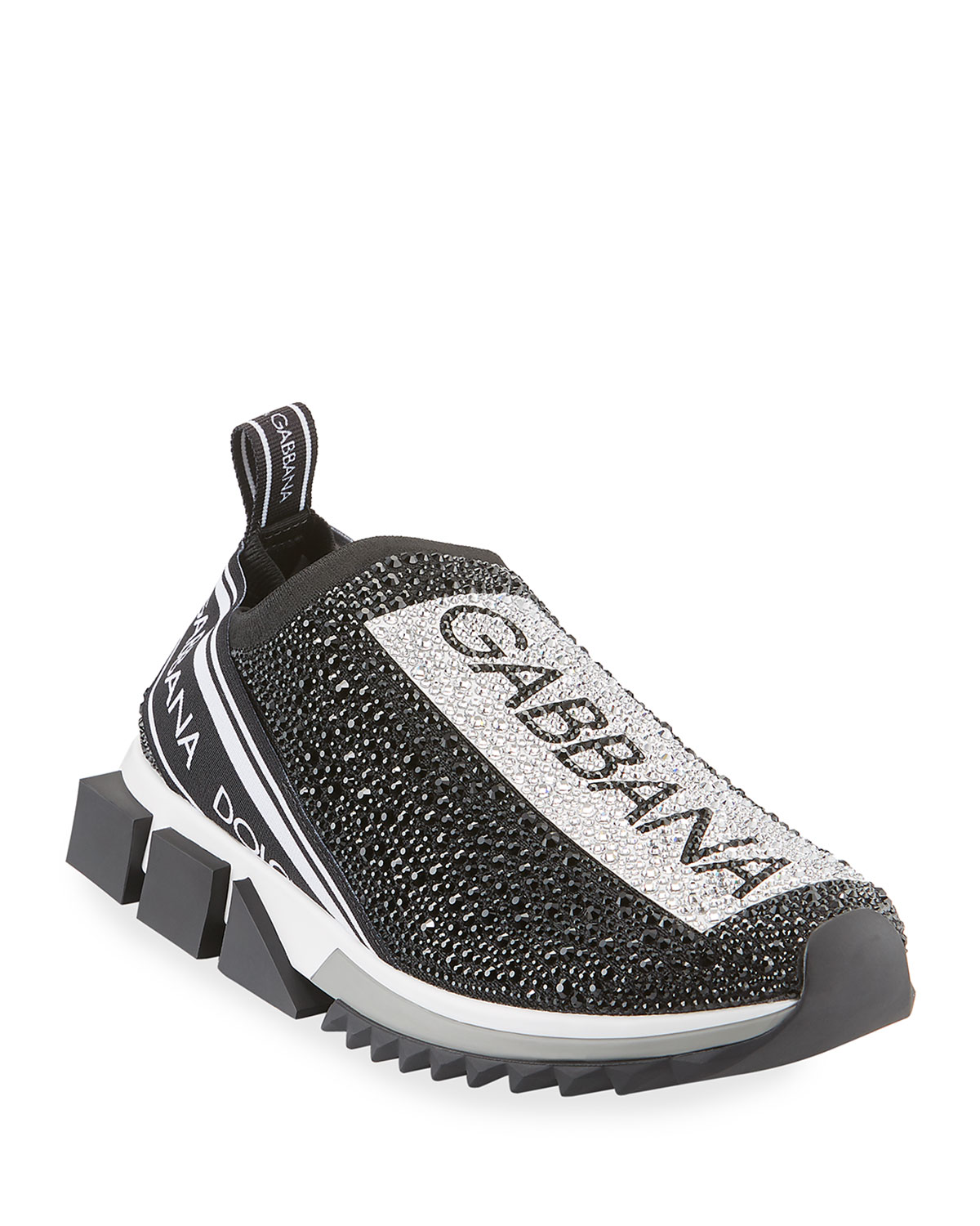 Dolce & Gabbana Sneakers MEN'S SORRENTO CRYSTAL-EMBELLISHED LOGO KNIT SNEAKERS