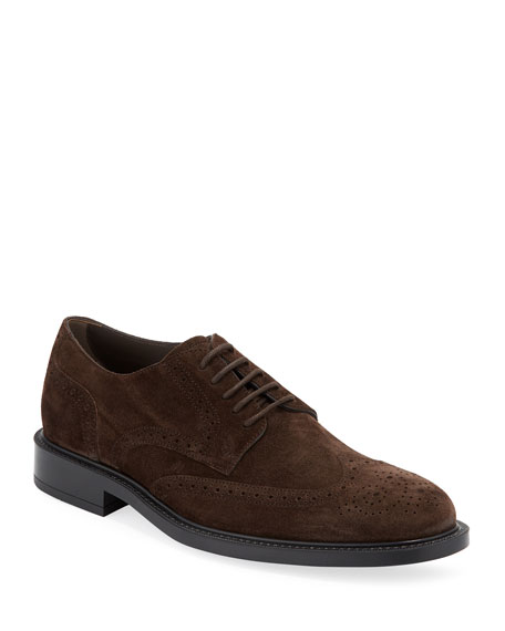Tod's Men's Brogue Suede Derby Shoes