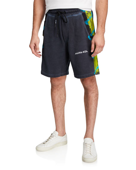 Mauna Kea Men's Painted-Trim Bermuda Shorts