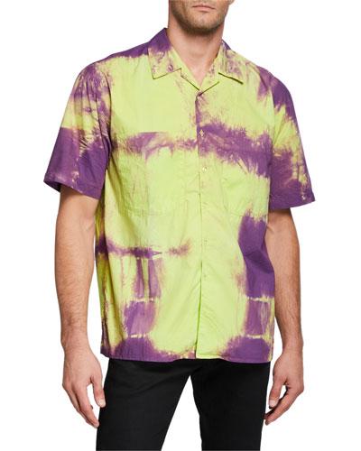 Men's Short-Sleeve Tie-Dye Sport Shirt