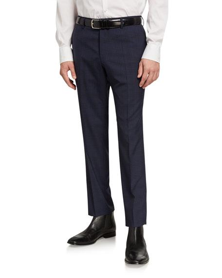 BOSS Men's Tonal Plaid Slim-Fit Pants
