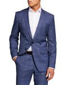 BOSS Men's Glenn Plaid Slim-Fit Two-Piece Suit
