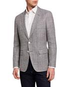 BOSS Men's Microweave Two-Button Jacket