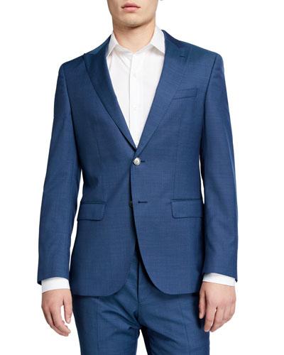 Men's Slim-Fit Micro-Pattern Two-Piece Suit