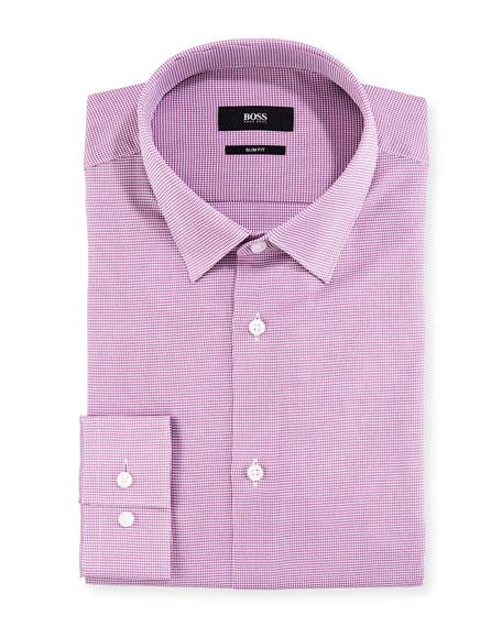BOSS Men's Gingham Slim-Fit Dress Shirt