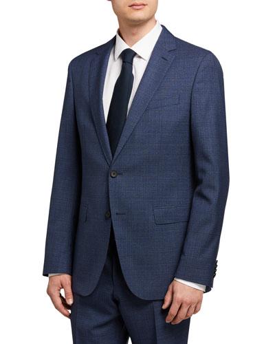 Men's Micro-Pattern Slim-Fit Two-Piece Suit