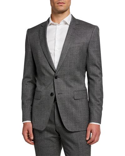 Men's Melange Slim-Fit Two-Piece Suit