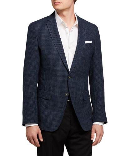 Men's Micro-Pattern Two-Button Jacket