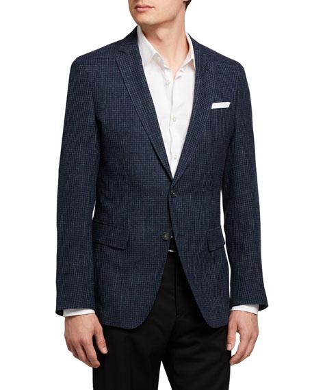 BOSS Men's Micro-Pattern Two-Button Jacket