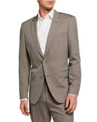 BOSS Men's Wool-Silk Slim Two-Piece Suit
