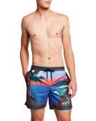 Derek Rose Men's Oahu 1 Classic Beach-Print Swim