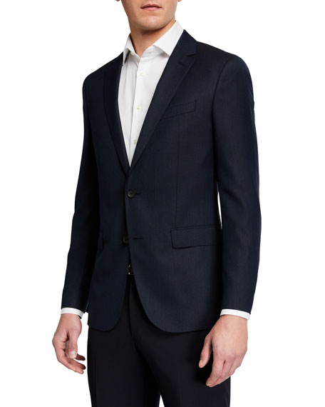 BOSS Men's Micro-Pattern Slim-Fit Two-Button Jacket