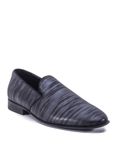 Men's Phillip Printed Leather Loafers