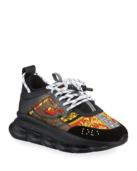 Versace Men's Chain Reaction Barocco Chunky Sneakers