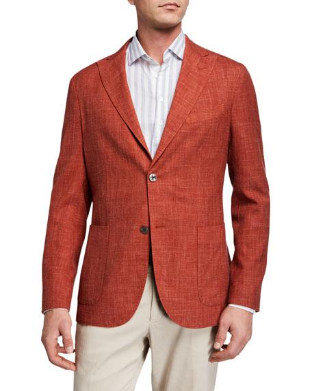Boglioli Men's Melange Wool-Blend Blazer
