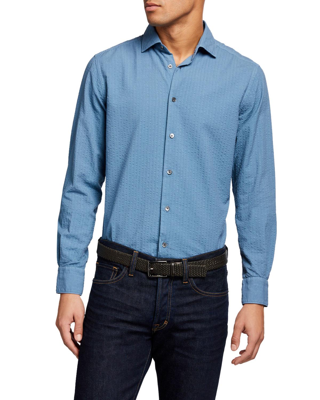 Men's Seersucker Sport Shirt