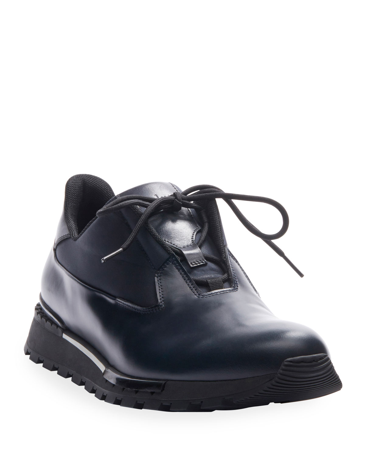 Berluti Sneakers MEN'S GLAZED LEATHER SNEAKERS